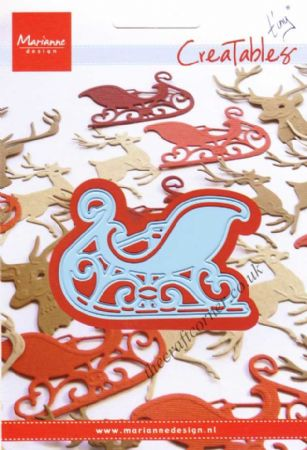 Santa's Sleigh Embossing & Metal Die by Marianne Design
